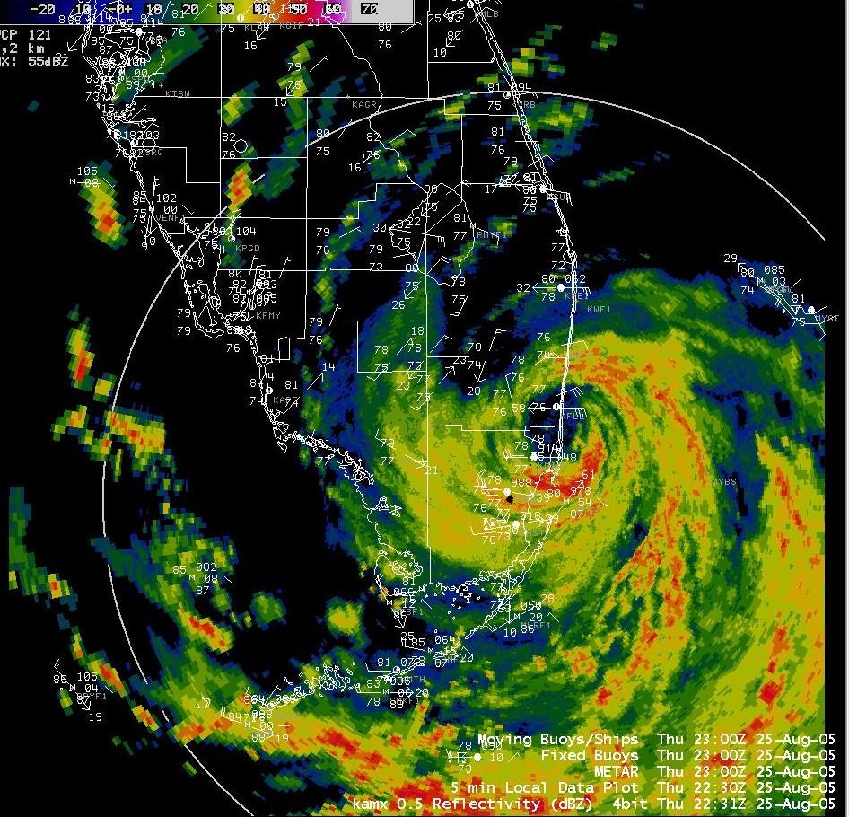 Weather Map For Florida.Katrina
