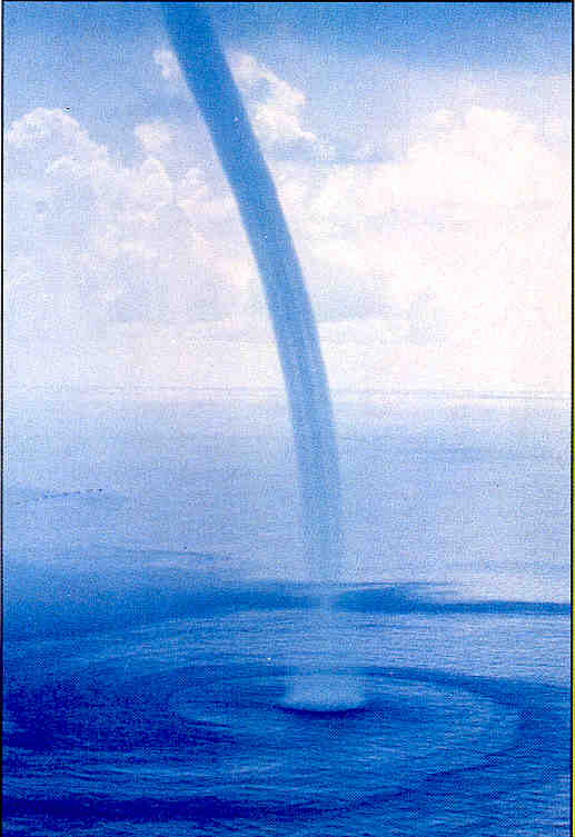 waterspout in the florida keys