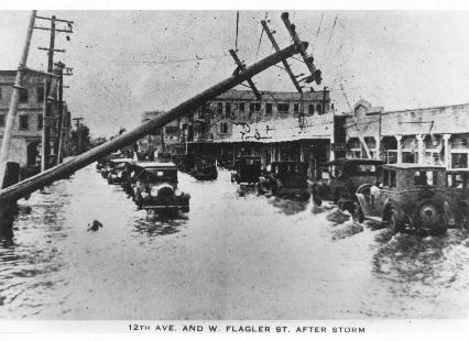Photo of flooding and damage in Miami