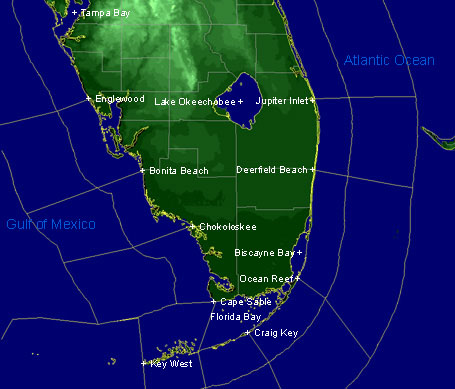 Florida Weather Map Marine Florida Weather Map