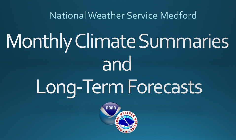 Medford Monthly Climate Summaries