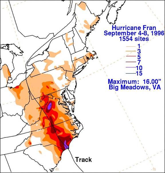 Hurricane Fran Image Two