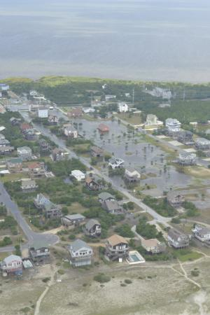 Hatteras Island Flooding (Courtesy U.S. Coast Guard)