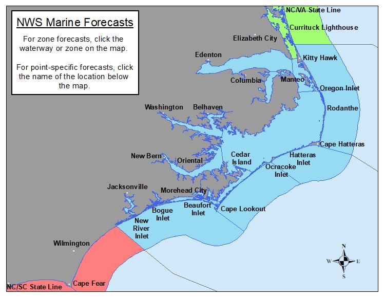 Eastern North Carolina Marine Forecasts
