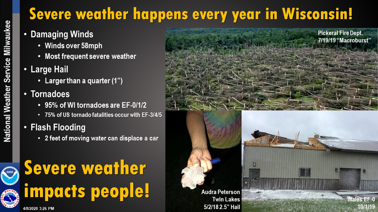 Severe weather happens every year in Wisconsin!