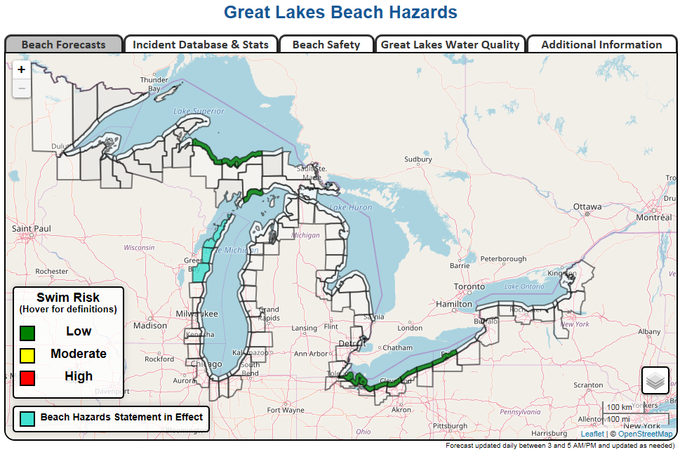 2019 Lake Michigan Beach Forecast Services - Will You be