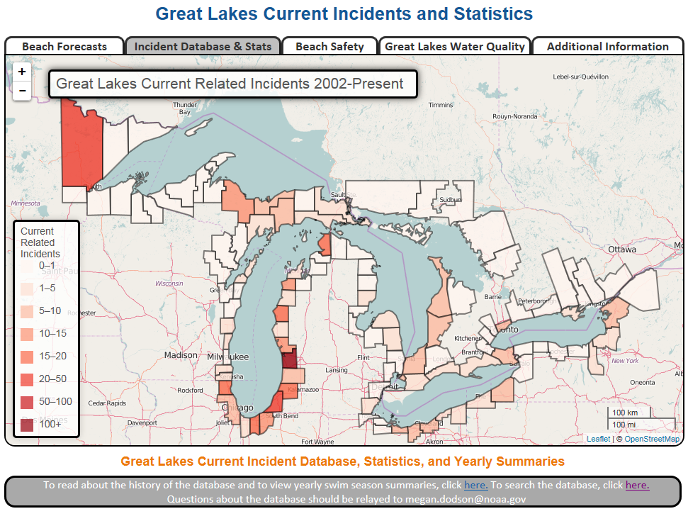 great lakes current incident database