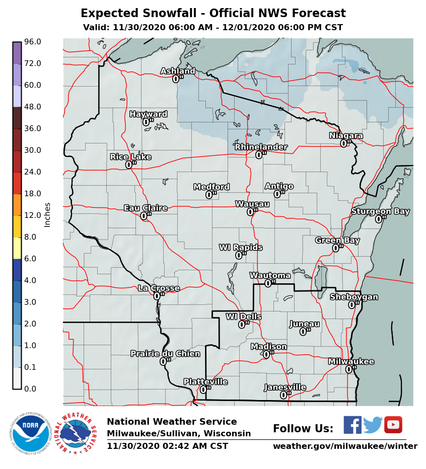 Nws Milwaukee Snowfall Forecast