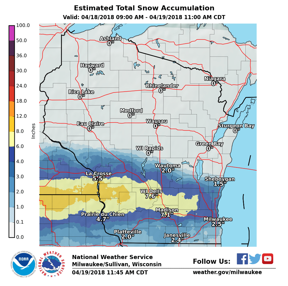 April 18th Winter Storm Updated 1 45 Pm 4 19