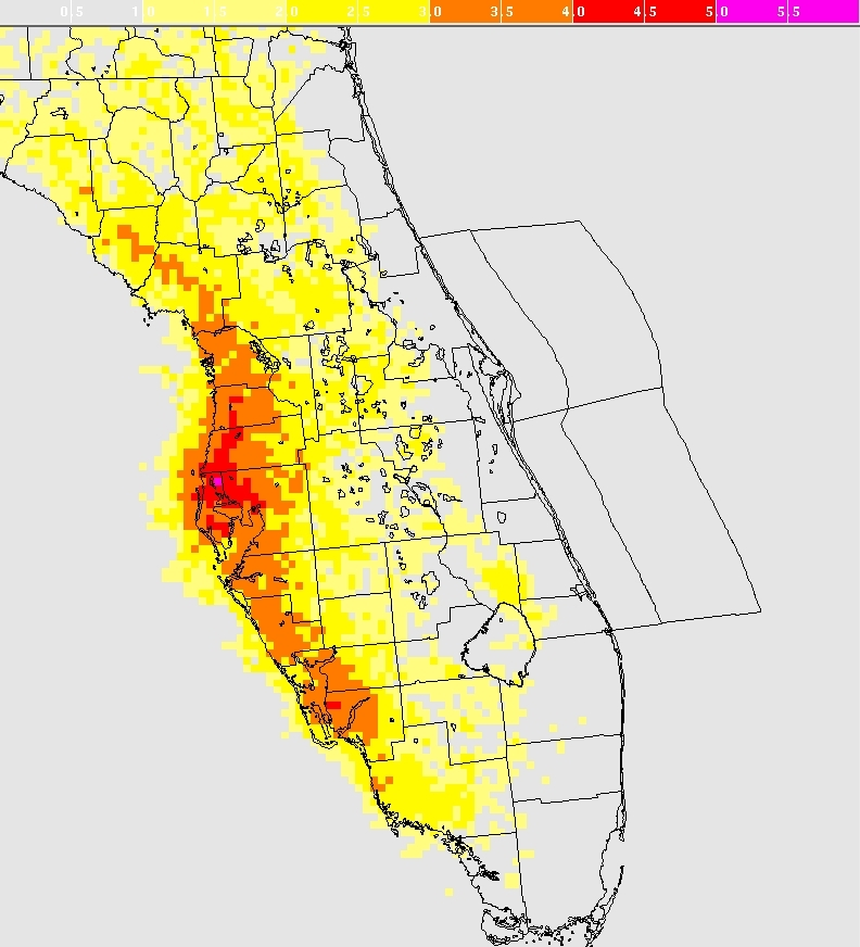 NWS Melbourne Lightning Threat Climatology - Map of lightning strikes in the us