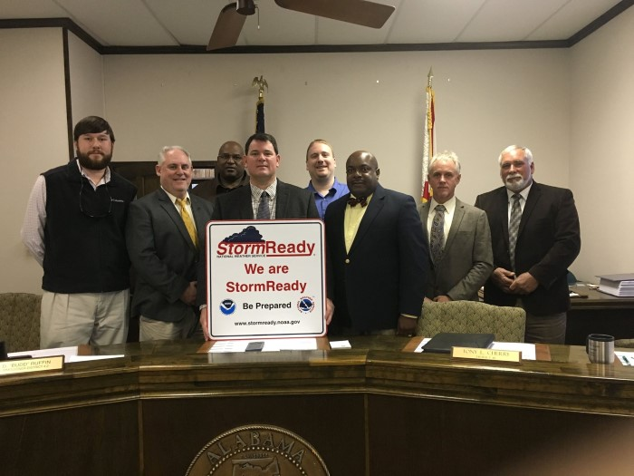 NWS Mobile Presents Choctaw County With Their StormReady Sign