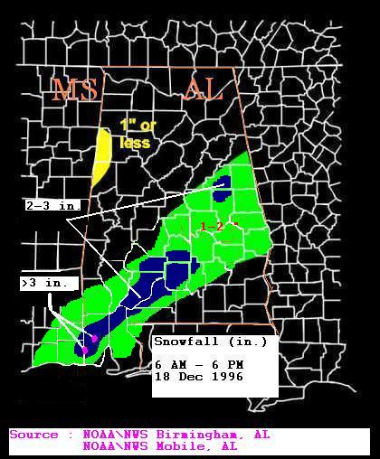 December 1996 Snow Storm