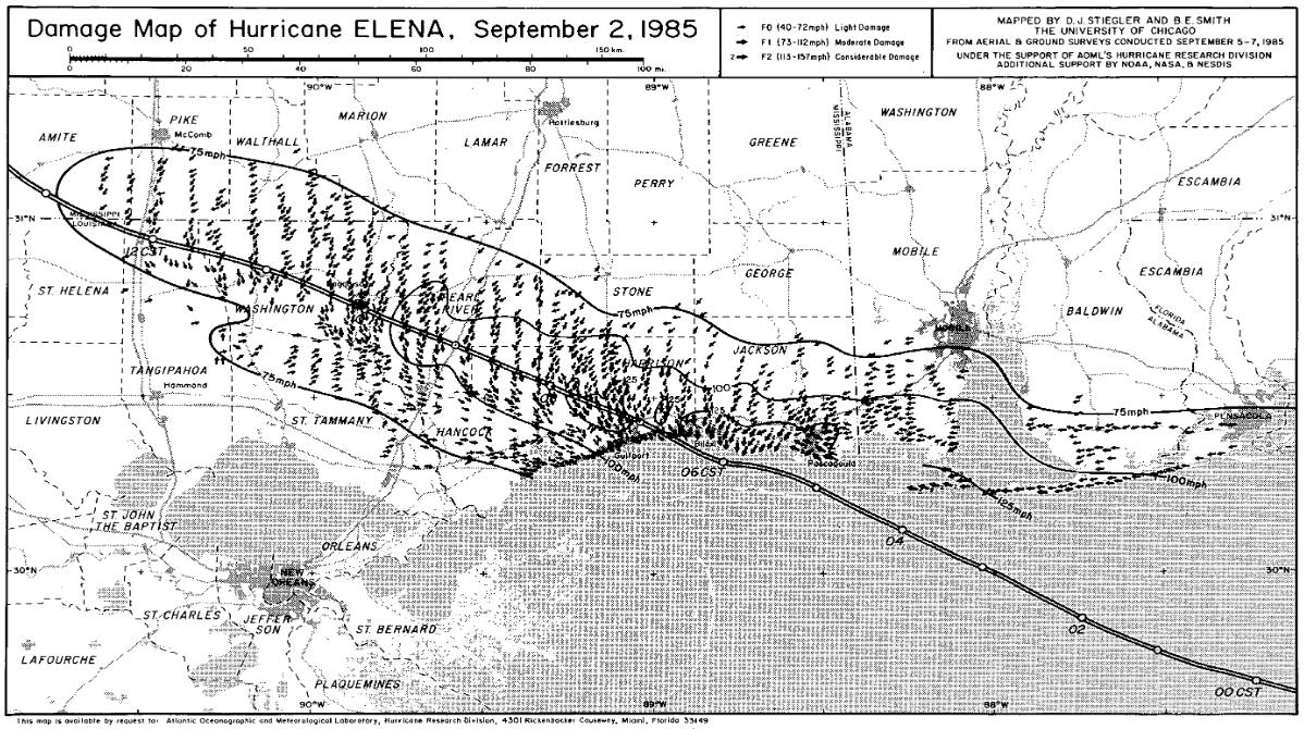Hurricane Elena September 1985