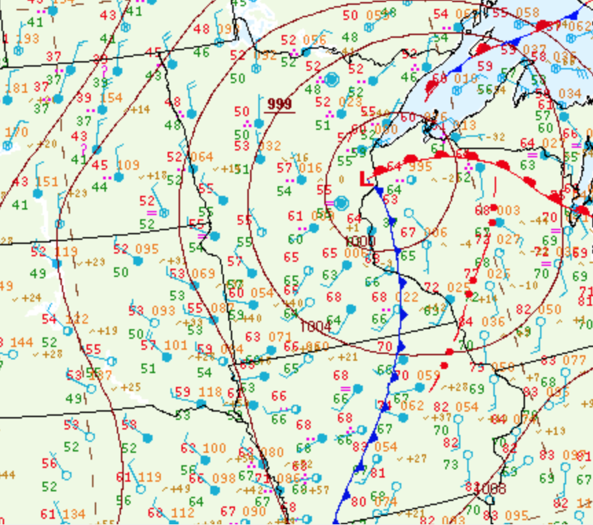 Surface Analysis 10 PM