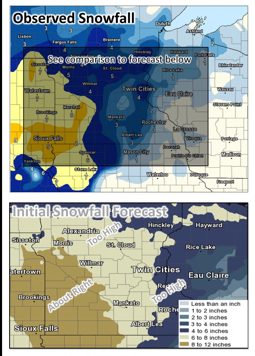 Snowfall Summary For The Nov 30 To Dec 01 Winter Storm