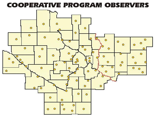 Cooperative Observers across Southern Minnesota and Western Wisconsin