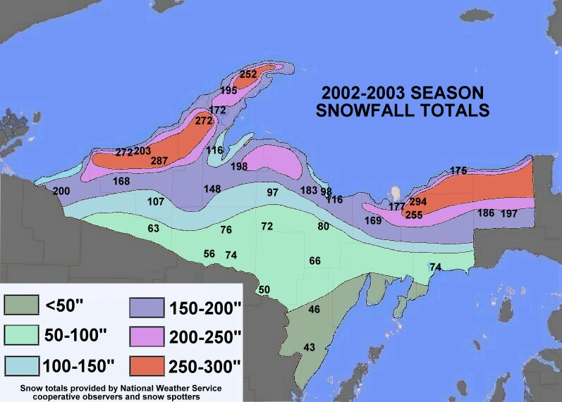 Season Snowfall Maps - Us annual snowfall map