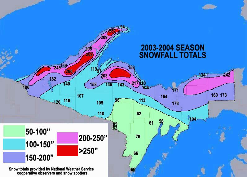 Season Snowfall Maps - Snow map of us