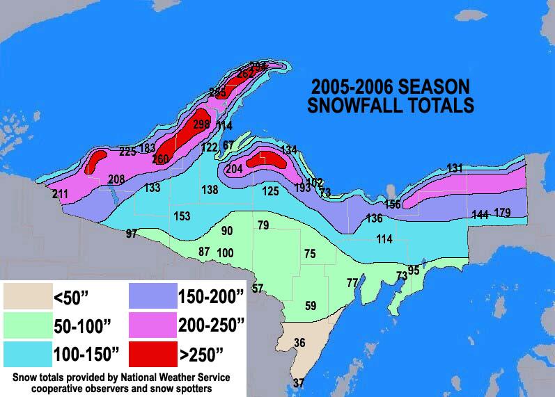 Season Snowfall Maps - Us annual snowfall map