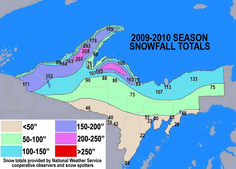 Season Snowfall Maps - Average annual snowfall map us