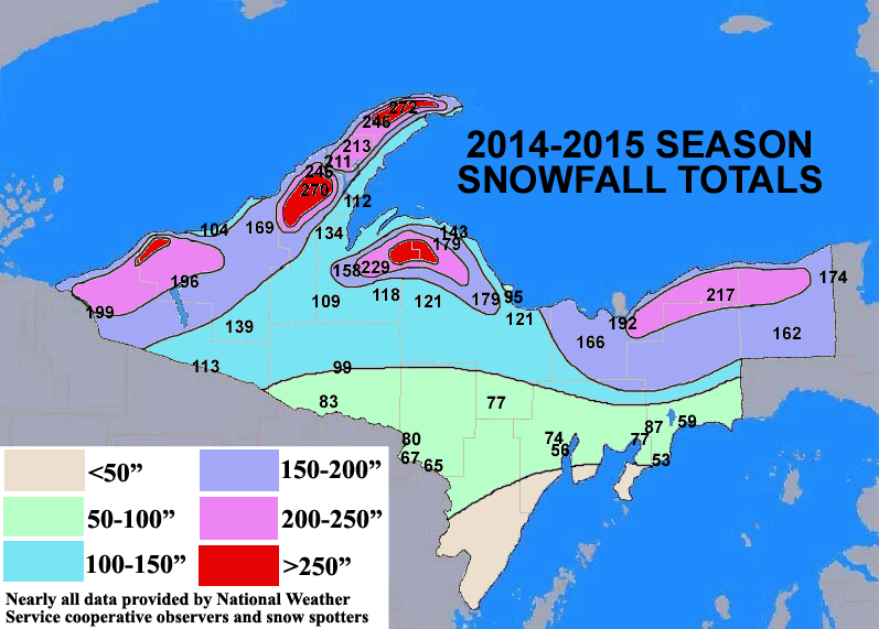 Season Snowfall Maps - Snowfall us map