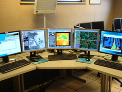 AWIPS workstation - WSR-88D radar data can be viewed and manipulated with other data from these stations