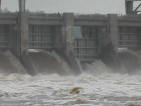 View of flood waters near Chickamauga Dam located in Chattanooga.