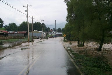 Looking south, just south of Highway 107, on Horse Creek in southeast Greene County