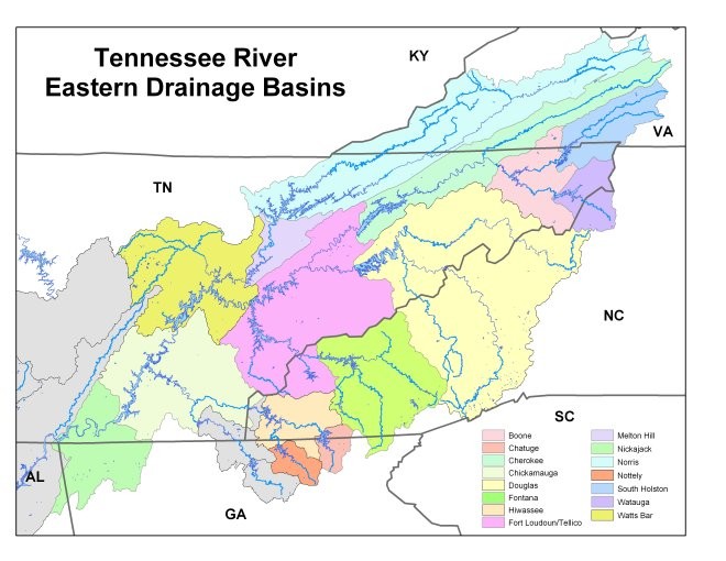 Tennessee Valley Authority Lake Basins Rainfall Information