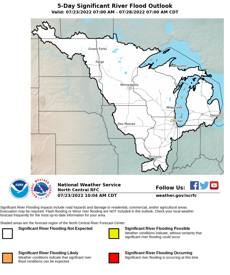 North central river forecast center significant river flood outlook