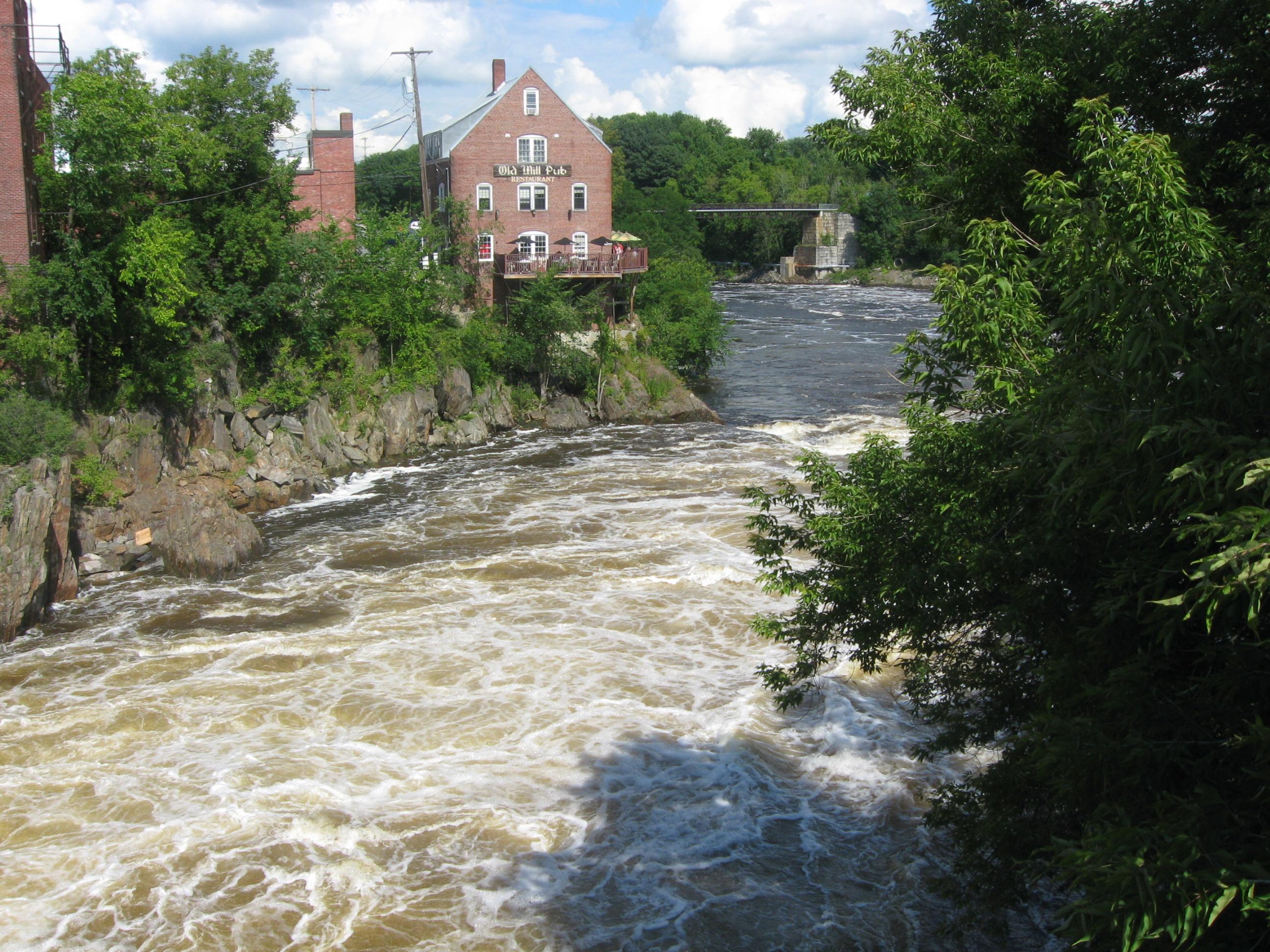kennebec river at skowhegan  maine