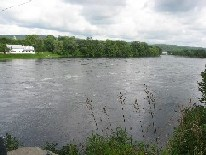 Photograph of the Kennebec River at Bingham, ME (BNGM1) looking downstream