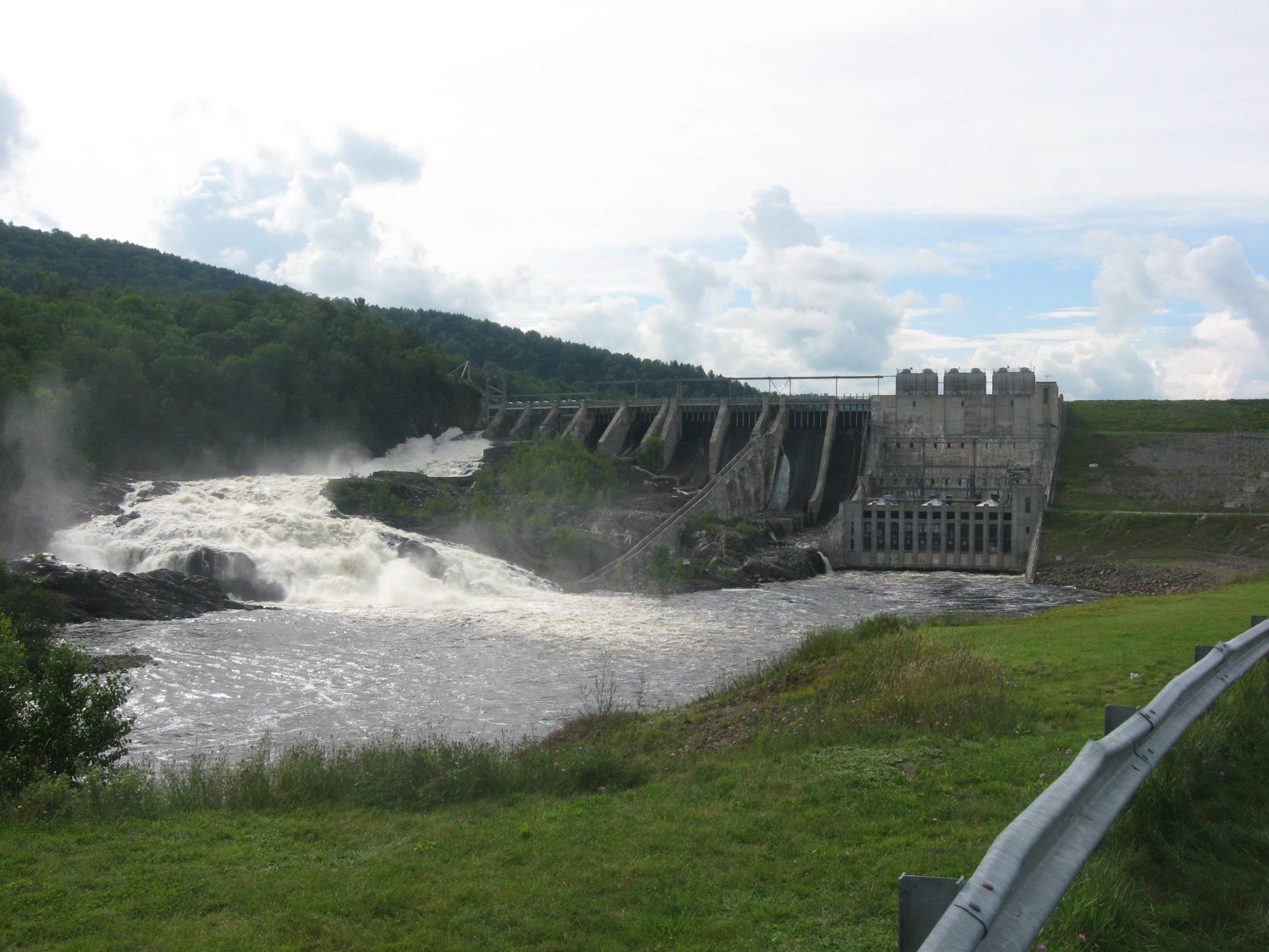 kennebec river at bingham wyman dam maine