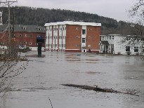 Photograph of flooding on Main Street in Fort Kent, ME on April 30, 2008
