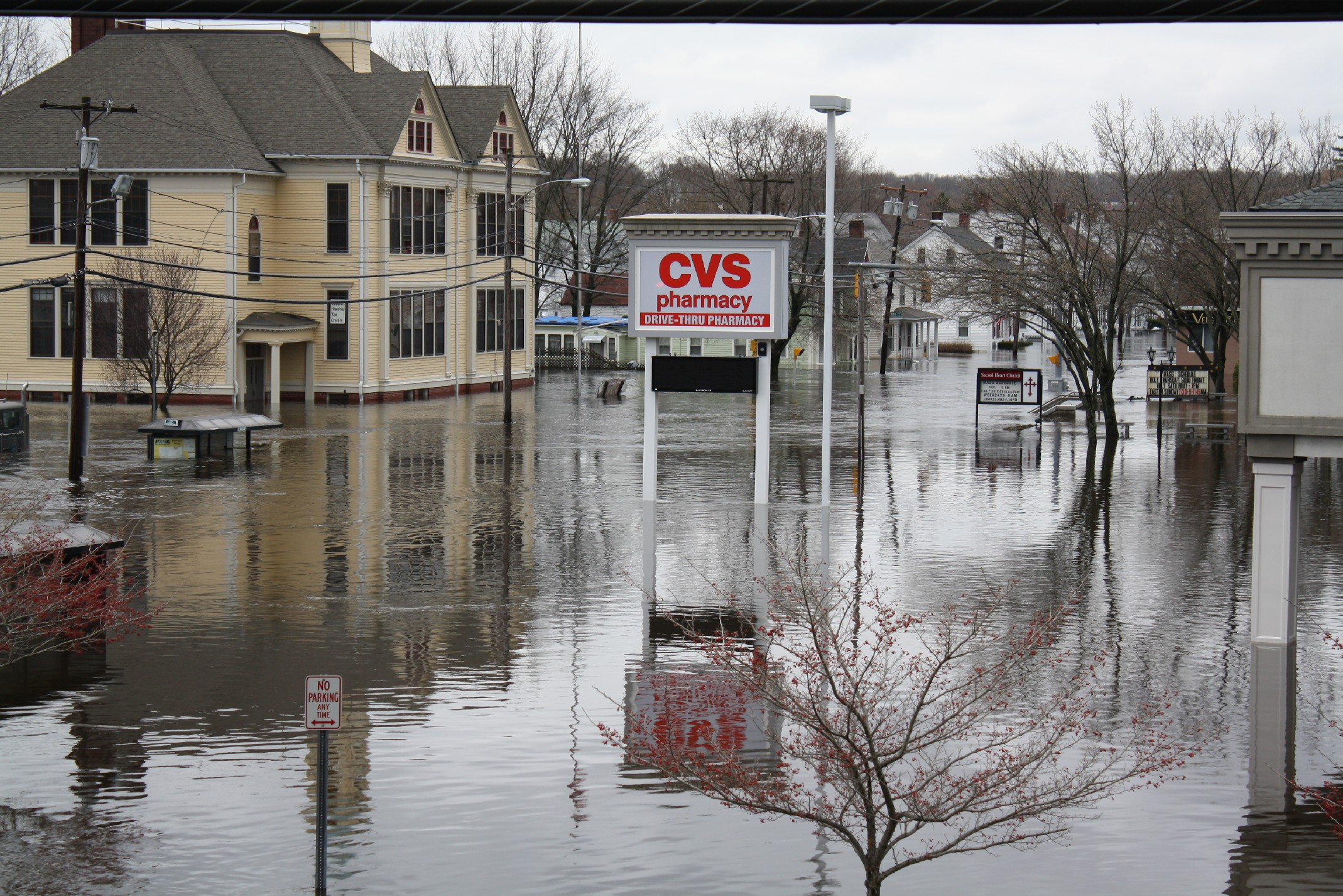 Record Flooding Along the Pawtuxet River in Rhode Island