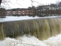 Photograph of a dam along the Sudbury River at Saxonville, MA (SAXM3)