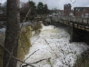 Photograph of a dam along the Sudbury River at Saxonville, MA (SAXM3)