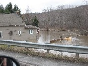 Photograph of a home flooded near Route 161 in Fort Kent, ME on April 30, 2008