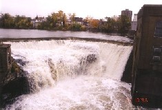 Photograph of the Mill Street Dam along the Black River in Watertown, NY