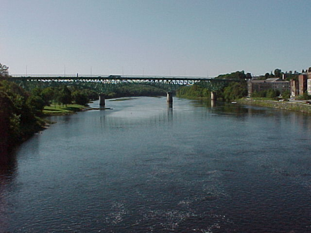Photograph of the Kennebec River at Augusta, ME (AUGM1) looking downstream