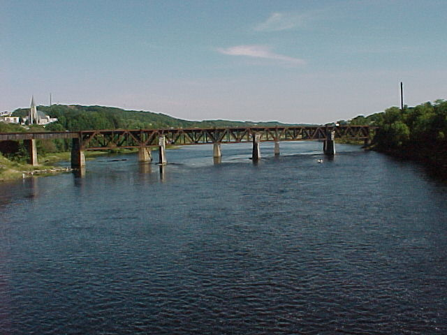 Photograph of the Kennebec River at Augusta, ME (AUGM1) looking upstream