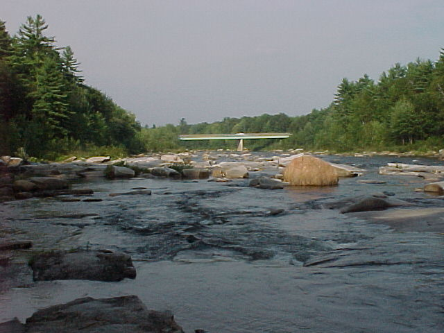 Photograph of the Saco River at Conway, NH (CNWN3) looking downstream