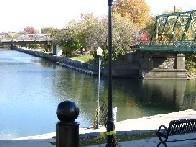 Photograph of the Ellicott Creek Below Williamsville, NY (WILN6) and Tonowanda Creek Confluence