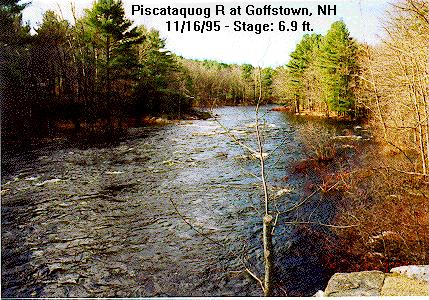 Photograph of the Piscataquog River at Goffstown, NH (GFFN3)