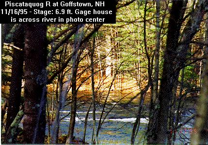 Photograph of the Piscataquog River at Goffstown, NH (GFFN3) and its gage house