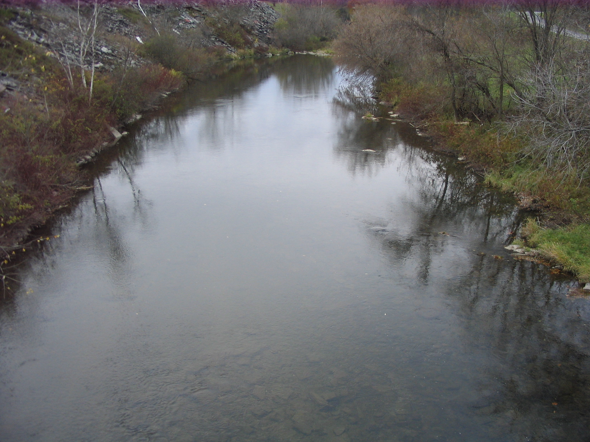 Photograph of the Mettawee River at Granville, NY (GVVN6) looking downstream