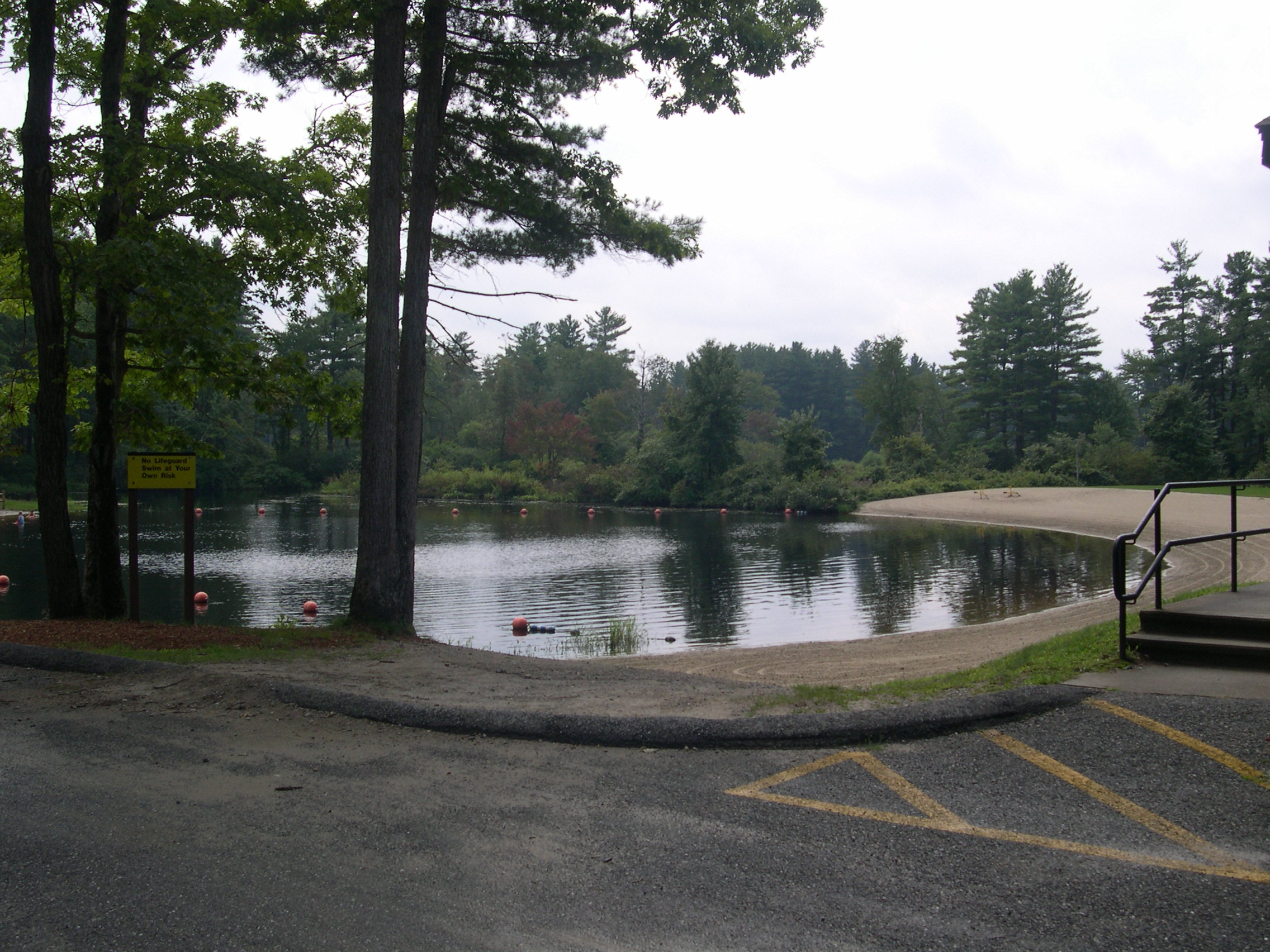 West Hill Dam In Uxbridge Massachusetts