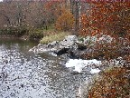 Photograph of the Lamoille River at Johnson, VT (JONV1) control downstream of the gage