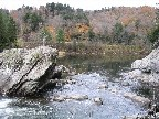 Photograph of the Lamoille River at Johnson, VT (JONV1) pool downstream of the control
