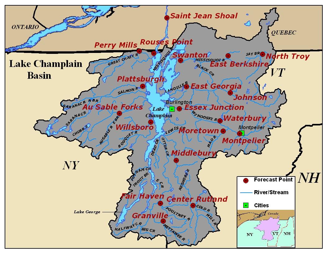 United States Map With Lakes.Lake Champlain River Basin Photos